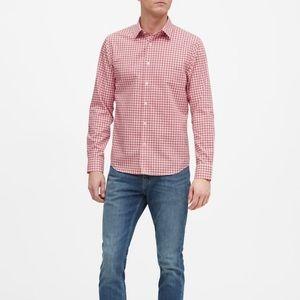 CHAPS preppy button-down dress shirt red white EUC